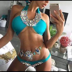 💕Rhinestone Bikini